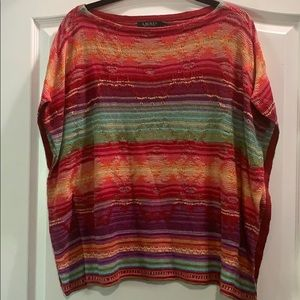 Beautiful Lauren colourful poncho top